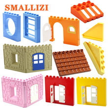 Big Size House Castle Door Parts Window Tent Bricks set Model Building Blocks Creative Educational DIY Toys For Children Gifts(China)