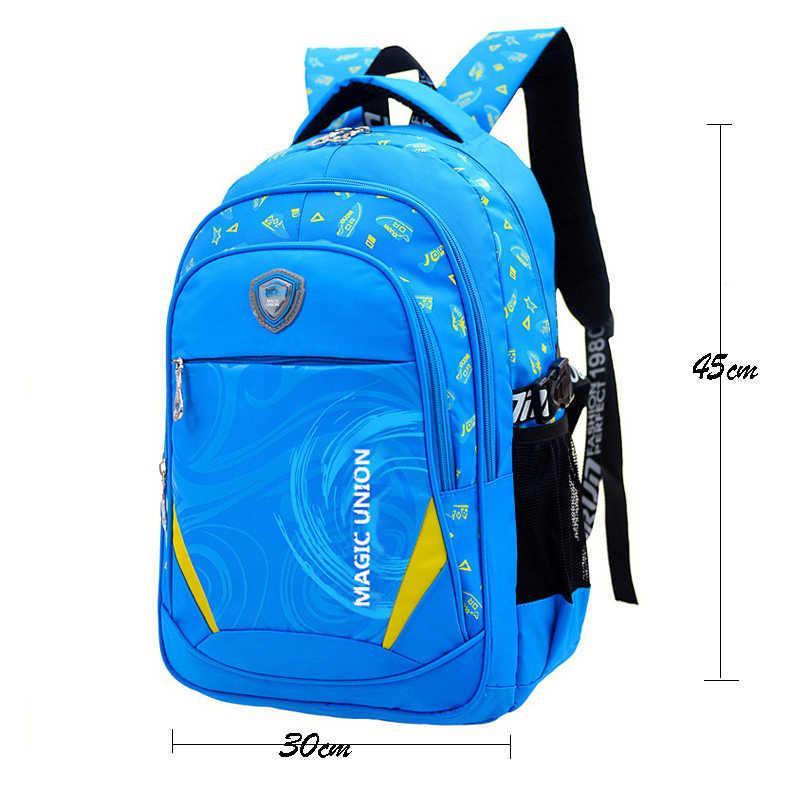 3ccf08ac0293 ... Волшебный союз детей школьные сумки бренда Дизайн ребенок рюкзак в Начальная  Школа Рюкзаки для мальчиков и ...