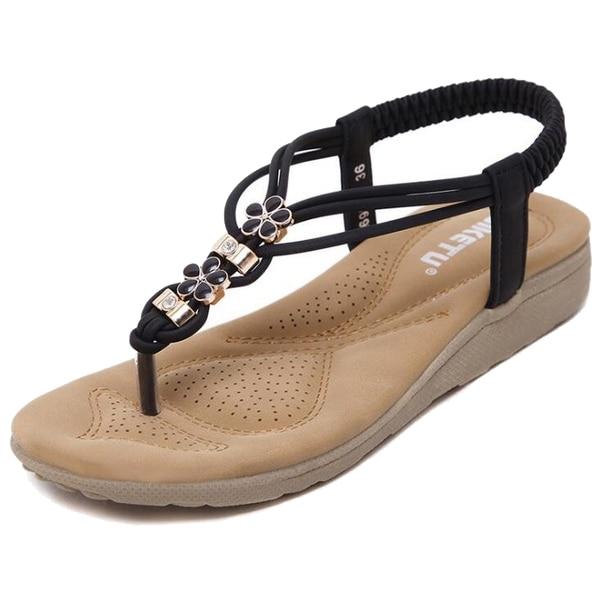 Fashion Boutique SIKETU Women Summer Casual Flat Sandals Ladies Summer Bohemia Beach Flip Flops Shoes Women Shoes Sandles size