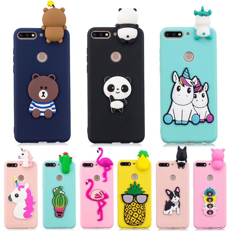 <font><b>Y7</b></font> <font><b>2018</b></font> <font><b>Case</b></font> on for Coque <font><b>Huawei</b></font> <font><b>Y7</b></font> <font><b>2018</b></font> <font><b>Cases</b></font> for <font><b>Huawei</b></font> <font><b>Y7</b></font> Prime <font><b>2018</b></font> Cover Cartoon 3D Doll Toy Soft <font><b>Silicone</b></font> Phone <font><b>Case</b></font> Women image