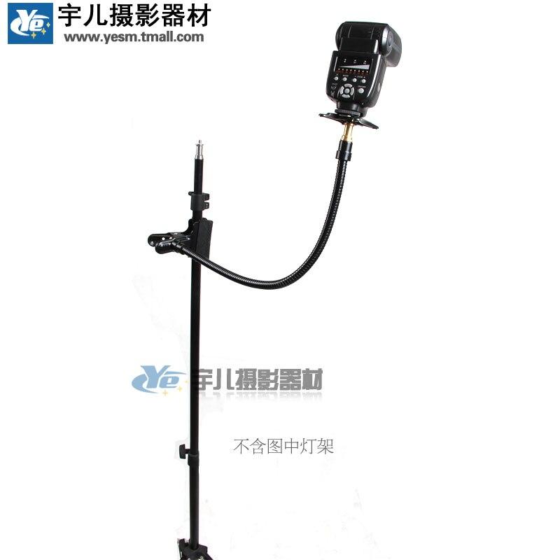 Flash universel bras fixe Set top flash lampe support Flexible support de tuyau et pince métal flexible tuyau pour support de caméra CD50
