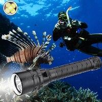 25000 люмен портативный светодиодный фонарик для дайвинга 5 * T6 подводное погружение водонепроницаемый фонарик 250 м подводная тактическая све