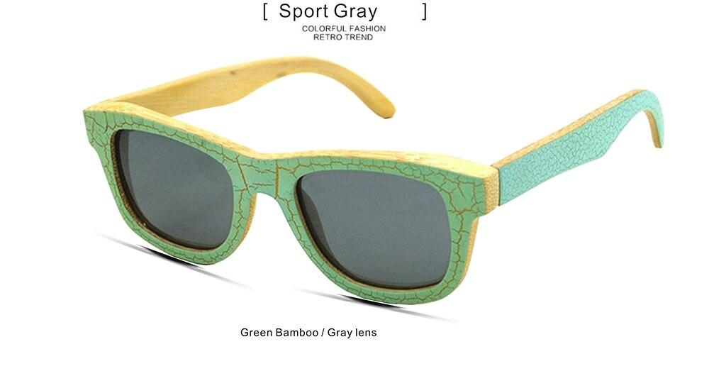 G M Авиатор бамбука солнцезащитные очки серебристый поляризованные линзы Для мужчин Для женщин солнцезащитные очки