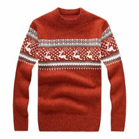 Loldeal 2018 Autumn Winter Pullover Christmas Sweater Jumper o Neck Deer Pattern Slim Fit Knitted Christmas Sweaters Knitwear