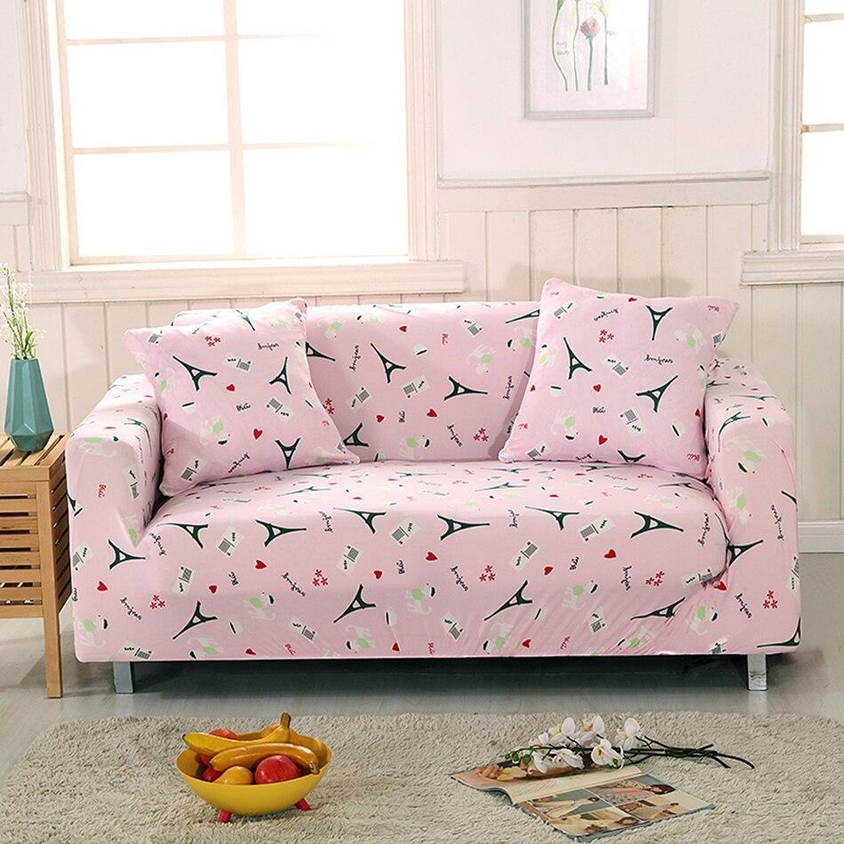 Rosa Universal Stretch Möbel Abdeckungen Handtuch Muster Elastische