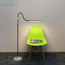 Wireless Remote Control Modern Floor Lamp 25 Levels Brightness Dimmable 360 Degree Rotatable Gooseneck LED Standing Light
