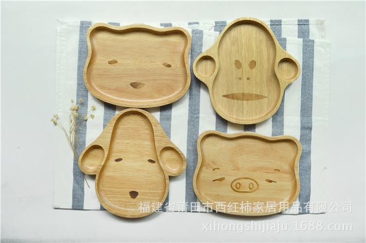 nuevo personaje de goma platos de comida para bebs y nios de madera de madera