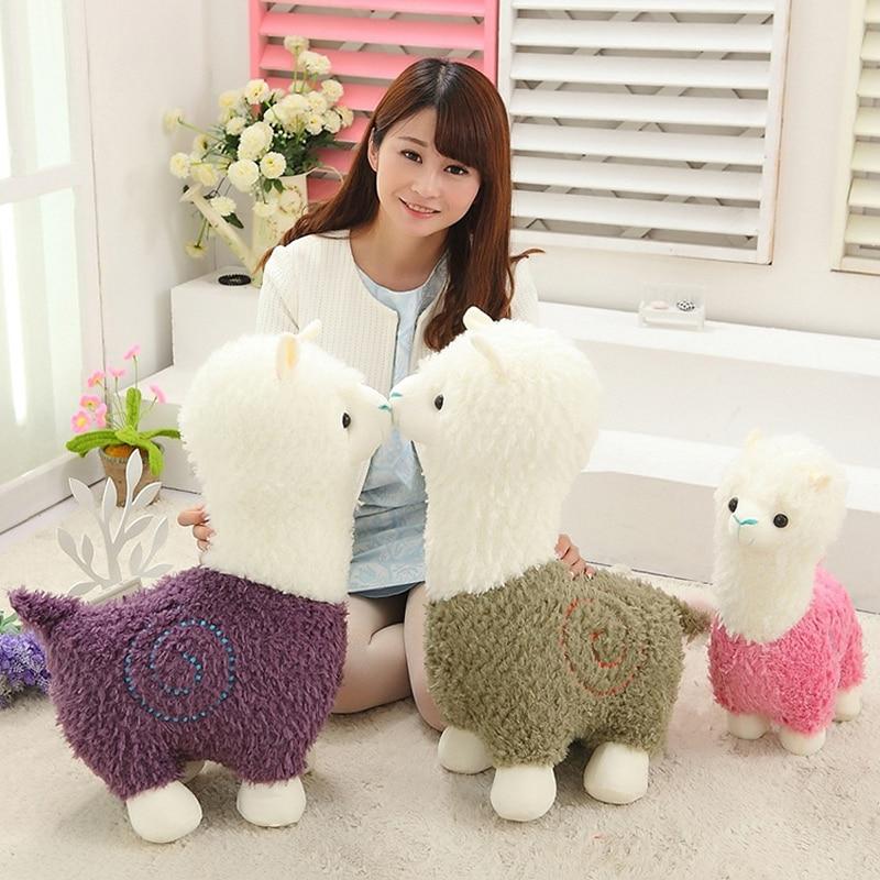 Kawaii Sheep Alpaca Dolls Plush Toys Stuffed Llama Yamma Pillow Soft - პლუშები სათამაშოები - ფოტო 2