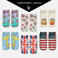 New 3D Print Socks Pusheen Giraffe Lips Flag Women Socks Cute Low Cut Ankle Sock Multiple Cartoons Casual Type Teenager Socks