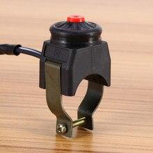 Evrensel öldürmek anahtarı korna düğmesi durdurma 22mm gidon motosiklet için motosiklet 22mm (7/8) handbars monte Stop korna anahtarları