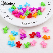 Meideheng Acrylic Animal Beads Lovely Bright Colorful Horse Bear Accessories For Jewelry Making Children DIY Toy Crafts Gifts