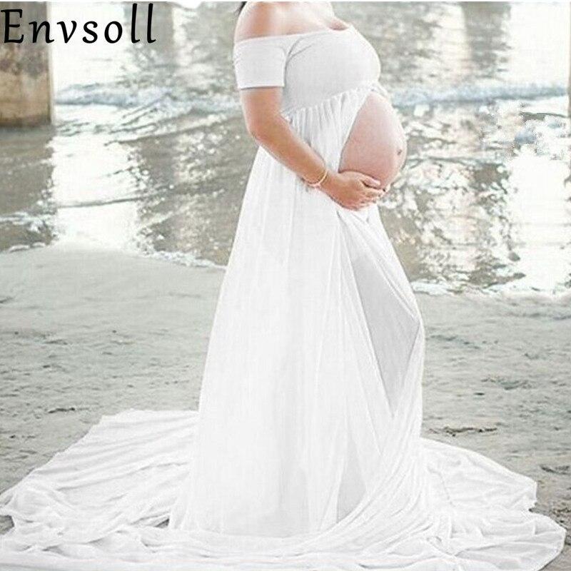 Envsoll Maternity Maxi Dresses 2017 Maternity Photography Props Chiffon Vestidos Maxi Pregnant Dress Pregnancy Photo Shoot