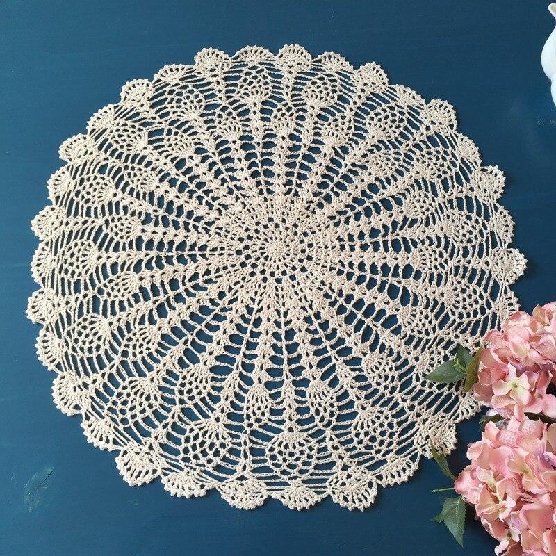 Crochet Nappe Ronde Vintage Table Ronde Topper Crochet Fait Main ...