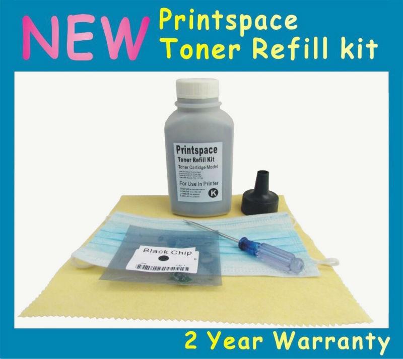 ФОТО 1x NON-OEM Toner Refill Kit + Chip Compatible For Konica Minolta MagiColor 7400 7450 ii Free shipping