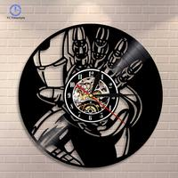 Vinyl Wall Clock Creative retro nostalgia Iron Man Home Decoration Accessories Wall Clocks Modern Design New Arrival