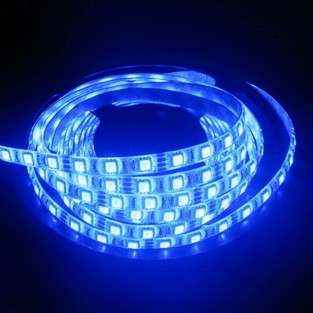 gratis frakt LED Strip 5050 fiexible light 60Led / m, 5m 300Led, DC - LED-belysning