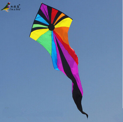 Free Shipping 2015 NEW 7m Power Triangle Kites Ghosts Kite With Handle and Line Good Flying
