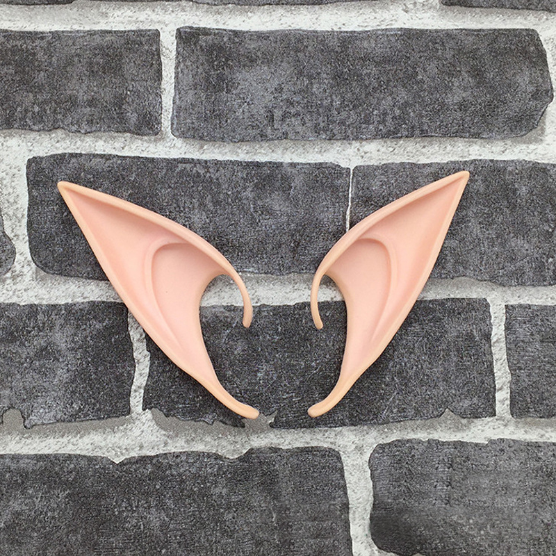 Halloween Mysterious Angel Elf Ear Cosplay Party Latex Soft Tips False Ears Prop