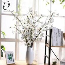 Erxiaobao 1 Piece Matrimony Vine Artificial Flowers White Pink Fake Flower Silk for Home Decoration Wedding Decor