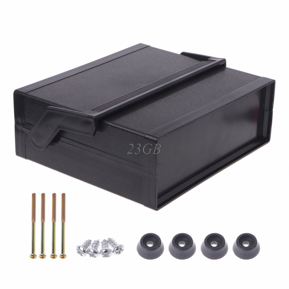 Waterproof Electronic Enclosure Project Box Plastic Black 200*175*70mm J31 4pcs a lot diy plastic enclosure for electronic handheld led junction box abs housing control box waterproof case 238 134 50mm
