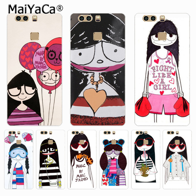 MaiYaCa Marc by Marc Jacobs Miss Marc lovely girl phone case for Huawei P9  p6 p7 p8 p10 plus case Cover for xiaomi 3 4case c72a9fe1d356