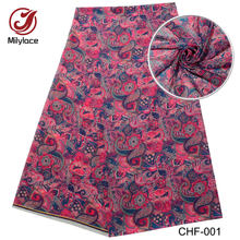 New coming african digital printed chiffon fabric 5 yards per lot hot selling nigerian chiffon fabric for party CHF-001(China)