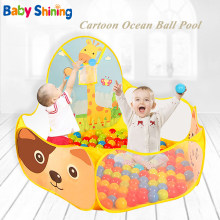 Baby Shining Ball Poll Children Tent 3-6 Years Baby Foldable Ball Poll Playpen Eco-friendly Baby Ball Pit With 50PCS Balls(China)
