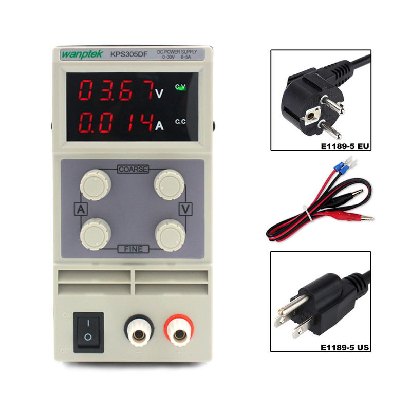 Adjustable Switching power supply 4 Digits LED Display 30V 5A Mini laboratory DC Power Supply High