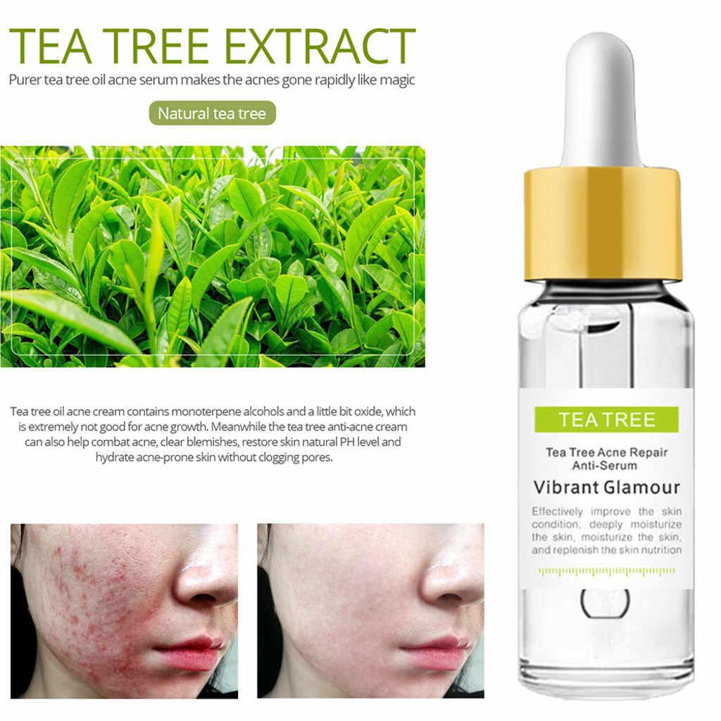 100% Natural Tea Tree Repair Face Serum Acne Scar Shrink Pores Face Serum  Eliminates Acne Treatment Serum Oil Control Essence