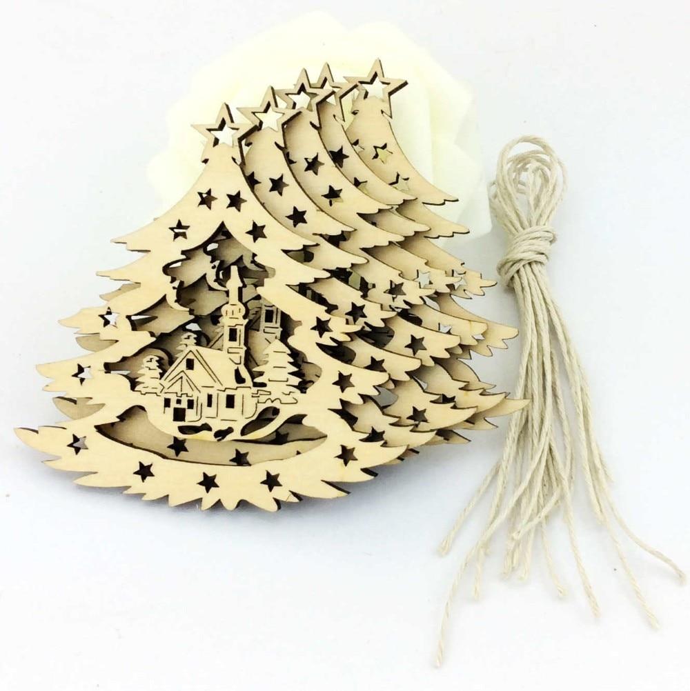 china de fbrica de madera del rbol de navidad ornamento colgante decoracin sd