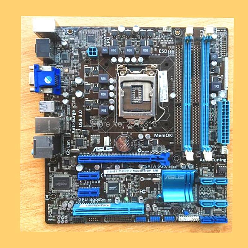100/% working B3 ASUS P8H61-M PRO motherboard Socket 1155 DDR3 Intel H61