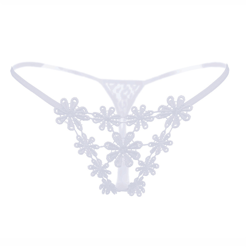Sexy Underwear cute embroidered flowers G String Transparent hollow Tangas Women Sexy Panties Panties Woman Sexy Lingerie pink in women 39 s panties from Underwear amp Sleepwears