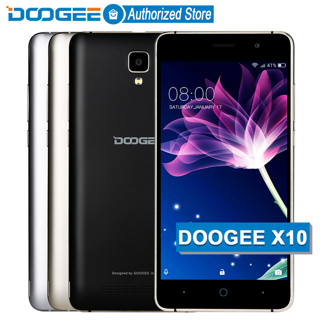 DOOGEE X10 mobile phones 5.0Inch IPS 8GB Android6.0 smart phone Dual SIM MTK6570 1.3GHz 5.0MP 3360mAH WCDMA GSM cellphone