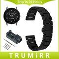 22 мм Полный Керамической Ремешок + Ссылка Remover для Векторных Luna Меридиан Watch Band Butterfly Пряжки Ремешок Наручные Браслет Черный белый