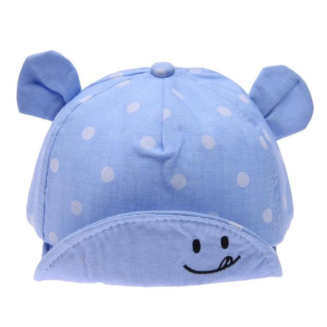 Dot Baby Caps New Girl Boys Cap Summer Hats For Boy Infant Sun Hat With Ear 2018 Sunscreen Baby Girl Hat Spring Baby Accessories