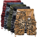 5 Multicolor New 2016 brand men's Casual Camouflage Loose Cargo Shorts Men multi-pocket Military overalls Plus size 29-40