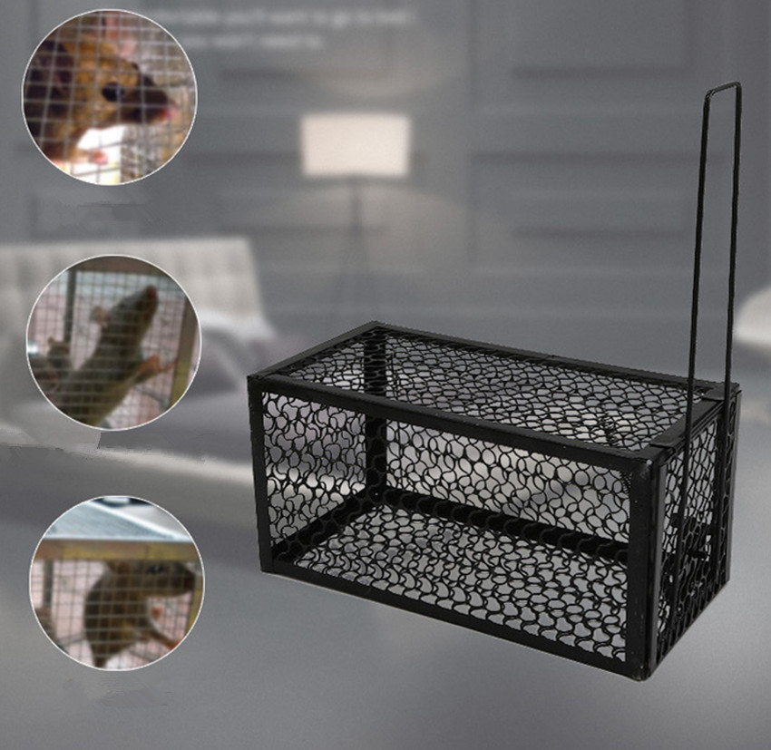 Reusable Mousetrap Iron Rat Cage Hamster Mouse Trap Pest Control Bait Rodent Repeller Catch Mouse Hamster Mouse Trap