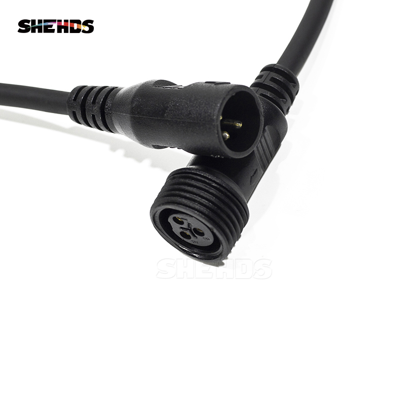 Waterproof Power Cable & DMX Signal Cable Connector 1M For Outdoor Waterproof LED Wash Beam Lighting Disco DJ Stage Equipment