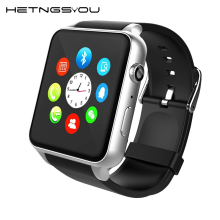 HETNGSYOU Heart Rate Monitor Bluetooth waterproof Smart watch Anti lost Smartwatch Support SIM Card For Android