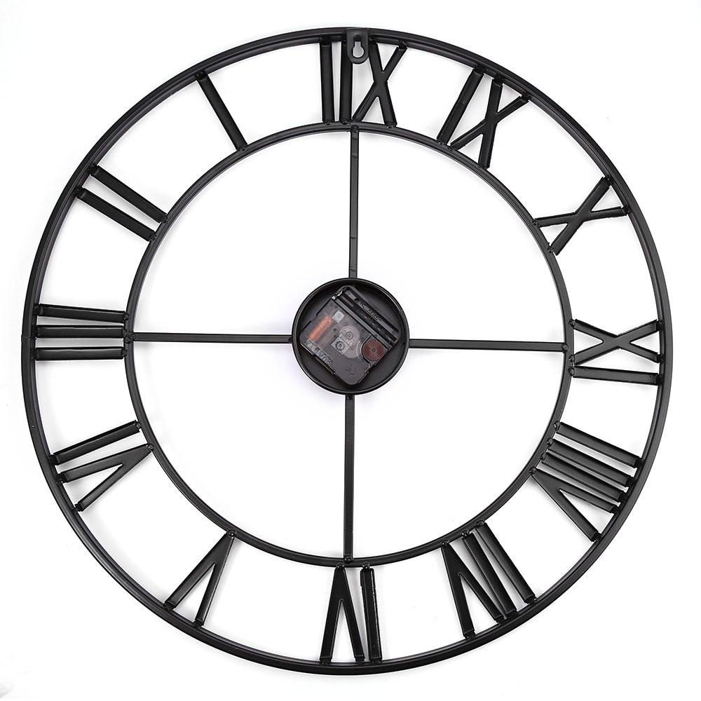 Modern 3d clock wall clock mechanism design decorative retro iron package contents 1 x 185 inch oversized 3d iron decorative wall clock retro roman numerals design 2 x clock pointer 1 x screw amipublicfo Gallery