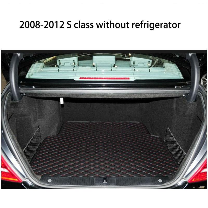 lsrtw2017 fiber leather car trunk mat for mercedes benz W222 W221 S320 S400 S500 S600 S350 2005-2019 mercedes s class w221 2005 2013 amg style carbon fiber cf spoiler rear trunk wings tail lip for benz s320 s400 s420 s450 s600