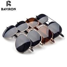BAVIRON Round Legs Sunglasses For Men Coating Polarized Tinted Lenses Driving Glasses Hipster Pilot UV400 Cool Sun Glasses B209