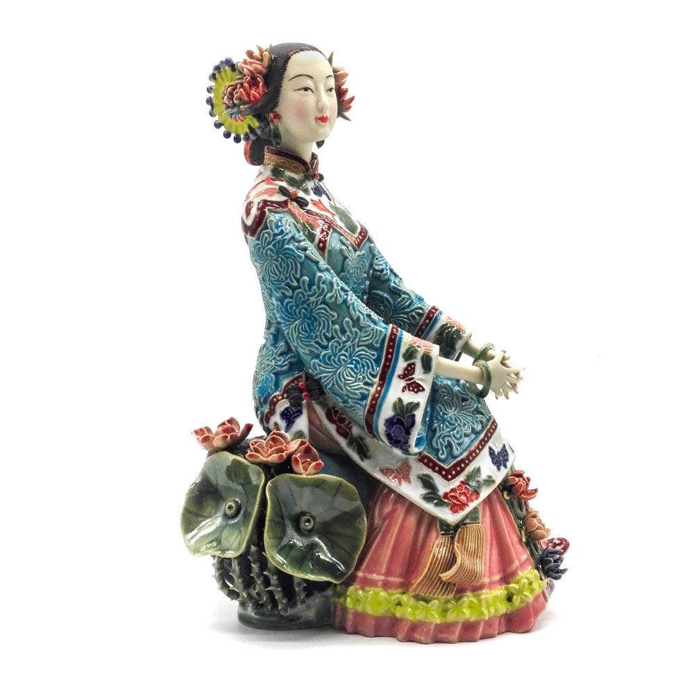 Handmade Art Collections Porcelain Antiques Art Collectible Pure Manual Figurine Traditional Chinese Ceramic Statue Craft FigureHandmade Art Collections Porcelain Antiques Art Collectible Pure Manual Figurine Traditional Chinese Ceramic Statue Craft Figure