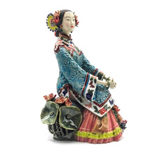 Handmade Art Collections Porcelain Antiques Collectible Pure Manual Figurine Traditional Chinese Ceramic Statue Craft Figure