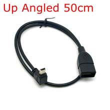 UP Angled 90 Mini USB To USB Cable 10cm 50cm 0.1m 0.5m For Car vehicular audio MP3