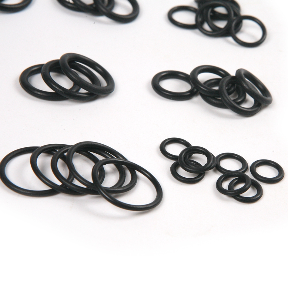 Universal Black Silicone Rubber 50Pcs O Ring Washer Seals ...