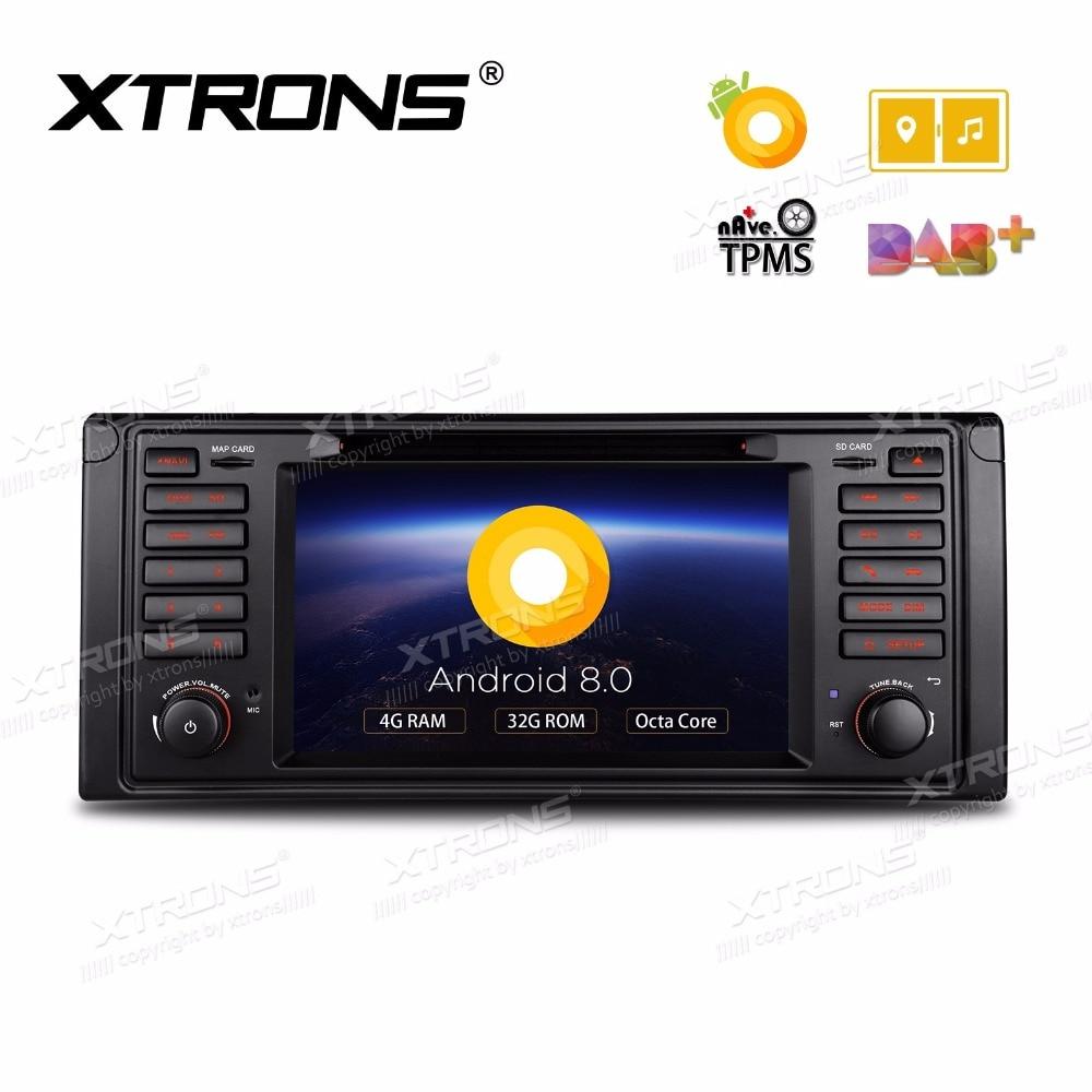 Android 8.0 Oreo OS 7 DVD de voiture pour BMW E39 M5 1999-2003 et BMW E39 1995-2003 et BMW Série 7 E38 1994-2001 avec 4 GB RAM 32 GB ROM