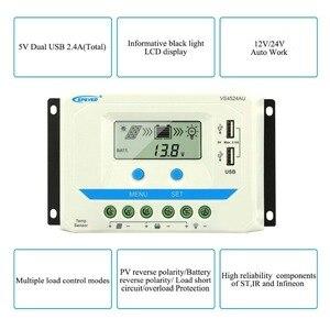 Image 2 - Epever 10A 20A 30A 45A 60A Solar Charge Controller Controlador De Carga 12V 24V Auto Pwm Solar Rregulators vs Serie Hot Koop