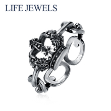 Authentic100% 925 Sterling Silver Rings Charm l Women Luxury Valentines Day Gift Jewelry 18172