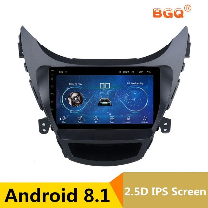 9 Android Car DVD Multimedia Player GPS For Hyundai Elantra MD Avante I35 2012-2017 audio car radio stereo navigator bluetooth car radio fascia facia panel adapter for hyundai elantra md avante md 2014